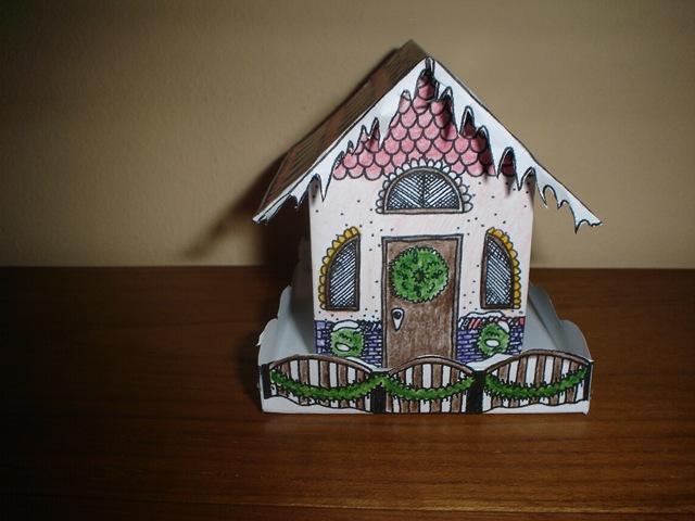 Construire une petite maison en papier l 39 atelier - Patron de maison en papier a imprimer ...