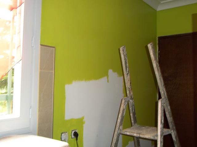 Peinture l 39 atelier for Peinture cuisine vert anis